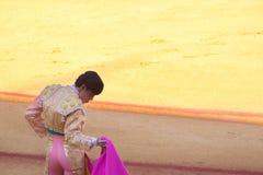 Seville, Maj - 16: Bullfighter w w cieniu bullfi zdjęcia stock