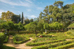 Seville - Maria Luisa park. In the midday light Stock Photos