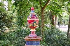 Seville Maria Luisa park uprawia ogródek Spain fotografia royalty free