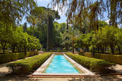 Seville Maria Luisa park uprawia ogródek Spain obraz stock