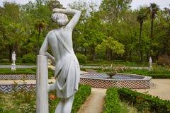 Seville Maria Luisa park uprawia ogródek Spain fotografia stock