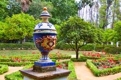 Seville maria luisa parkerar trädgårdar Spanien arkivbilder