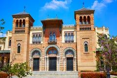Seville maria luisa parkerar trädgårdar Spanien arkivfoto