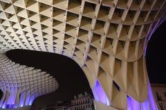 Metropol Parasol in Plaza de la Encarnacion, the biggest wooden structure in Europe. Seville, Metropol Parasol in Plaza de la Encarnacion, the biggest wooden Stock Photos