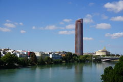 Seville miasta widok zdjęcia stock