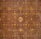 Seville - The mudejar wooden ceiling in Casa de Pilatos. Stock Image