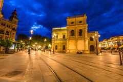 Seville night scene Royalty Free Stock Photography