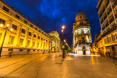 Seville by night Royalty Free Stock Photos