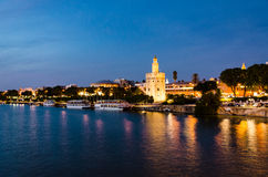 Seville in the night Royalty Free Stock Photography