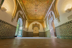 Seville -  The one of rooms in Alcazar of Seville. Royalty Free Stock Image