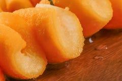 The Seville Orange Jam Part on The Wood Royalty Free Stock Photos