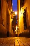 Seville på natten royaltyfria foton