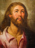 Seville - The paint of Jesus Christ in the church Basilica del Maria Auxiliadora by unknown painter. Stock Photo