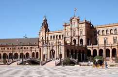 Seville palace. Old Seville palace in Espana square, Spain Stock Images