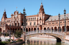 Seville palace. Old Seville palace and square, Spain Royalty Free Stock Photography
