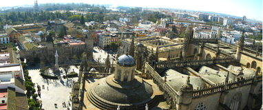 Seville Panorama. A panorama of Seville taken from the cathedral Royalty Free Stock Photos