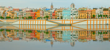 Seville panoramic cityscape with historical buildings, city skyline, Sevilla, Spain. Seville panoramic cityscape with historical buildings, city skyline Sevilla stock photo