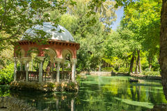 Seville park. Beutiful green park in seville spain Royalty Free Stock Photography