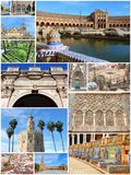 Seville photo set Royalty Free Stock Photos
