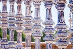 Seville, Pillars. Pillars, Plaza de Espana, Seville, Spain Stock Image