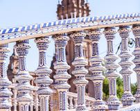 Seville,  Pillars. Pillars, Plaza de Espana, Seville, Spain Royalty Free Stock Photography