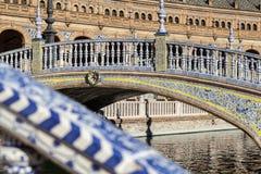 Seville Plac De Espana zakończenie w górę obraz royalty free