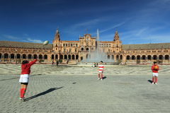 Seville - Plaza de Espana Royalty Free Stock Images