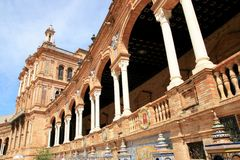Seville. Plaza De Espana Palace, Spain Royalty Free Stock Images