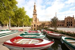 Seville, plaza de espana, Spain. Seville, Plaza de espana, andalucia, spain royalty free stock photos