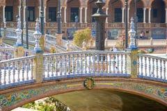 Seville, plaza de espana, Spain. Seville, details of Plaza de espana, andalucia, spain royalty free stock photos