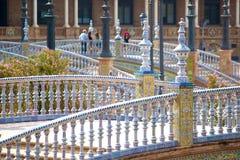 Seville, plaza de espana, Spain. Seville, details of Plaza de espana, andalucia, spain royalty free stock photography