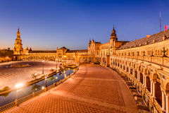 Seville at Plaza de Espana Stock Image