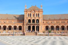 Seville - Plaza de Espana Royalty Free Stock Photography