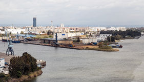 Seville and port Stock Photography