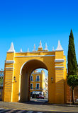 Seville Puerta de la Macarena Arch door Spain. Seville Puerta de la Macarena Arch door in Sevilla Andalusia Spain Royalty Free Stock Photo