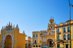 Seville Puerta de la Macarena and Basilica. Church in Sevilla Andalusia Spain Stock Images