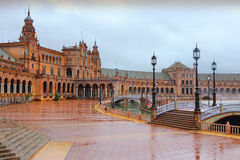 Seville in rain stock photo