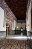 Seville, Real Alcazar decorated corridor Stock Images