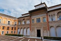 Seville, Real Alcazar Main Building Entrance Stock Photo