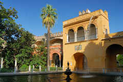 Seville, Real Alcazar's main fountain Royalty Free Stock Photos