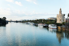 Seville by the Riverside Stock Photography