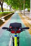 Seville roweru ślad wzdłuż miasta w Andalusia Hiszpania Zdjęcie Stock