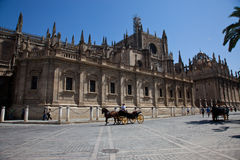 Seville's cathedral Royalty Free Stock Photos