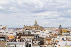 Seville& x27; s-kyrka av San Luis de Los Franceses Arkivfoton