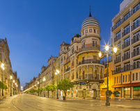 Seville - Saint Francis square - Plaza San Francisco at dusk. Stock Photo