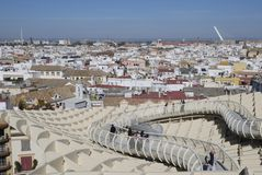 Seville seen from Metropol Parasol Stock Images