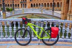 Seville Sevilla Plac De Espana Andalusia Hiszpania Zdjęcia Stock