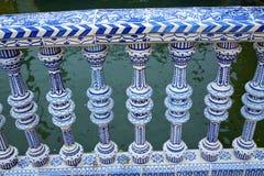 Seville Sevilla Plaza de Espana Andalusia Spain. Seville Sevilla Plaza de Espana ceramic balustrade Andalusia Spain square Stock Image