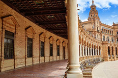 Seville Sevilla Plaza de Espana Andalusia Spain. Square Stock Photo