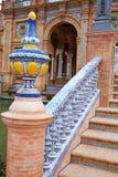 Seville Sevilla Plaza de Espana Andalusia Spain. Square Stock Image